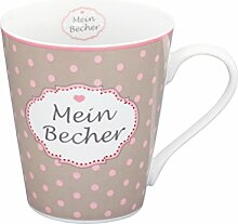 Mug, Taupe mein becher handle [A]