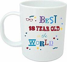 """mug. zum 18. Geburtstag, in Geschenkbox, tolle Geschenkidee für alle 18 Years - 18 years """"Best in the world"""" Tasse, Keramik"""