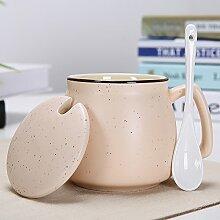Mugcap Europäischen kreative Mode Keramik Becher