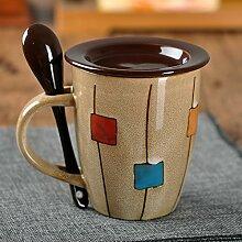 Mugcap europäischen Stil Kaffee Tasse Becher mit