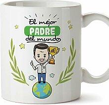 Mugffins Papa Vater Tasse Becher (auf Spanisch)