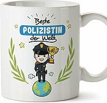 Mugffins Polizistin Tasse/Becher/Mug Geschenk