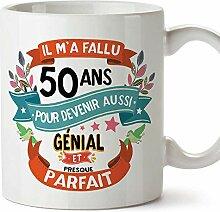 MUGFFINS Tasse/Becher 50. Geburtstag (auf