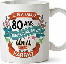 MUGFFINS Tasse/Becher 80. Geburtstag (auf