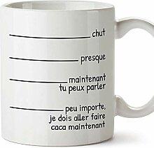 MUGFFINS Tasse/Becher Fast poo (auf Französisch)