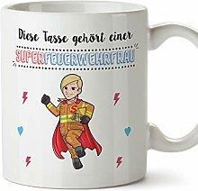 MUGFFINS Tasse/Becher Feuerwehrfrau (Superhelden)