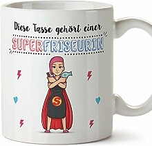 MUGFFINS Tasse/Becher Friseurin (Superhelden) -