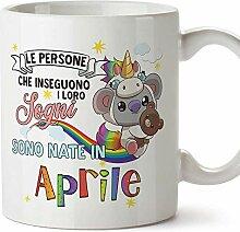 MUGFFINS Tasse/Becher Geburtstag Koala April (auf