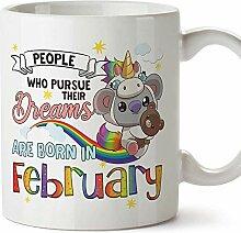 Mugffins Tasse/Becher Geburtstag Koala Februar