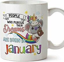 Mugffins Tasse/Becher Geburtstag Koala Januar (auf