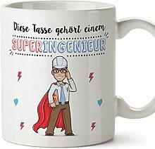 MUGFFINS Tasse/Becher Ingenieur (Superhelden) -