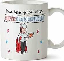 MUGFFINS Tasse/Becher Ingenieurin (Superhelden) -