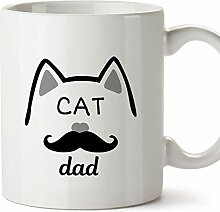 Mugffins Tasse/Becher Katzenvater (auf Englisch)