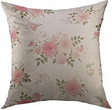 Mugod Dekokissenbezug mit rosa Blumenblüten,