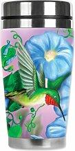 Mugzie Hummingbird & Flowers Travel Mug with