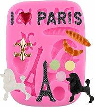 Mujiang Eiffelturm Pudel Kuchen Dekorieren Formen