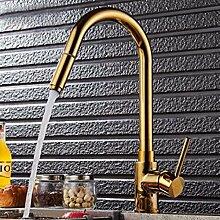 MulFaucet Goldzug Wasserhahn drehender Küchenhahn