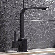 MulFaucet Küche schwarz sieben Zeichen Wasserhahn