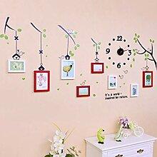 Multi Bilderrahmen Wand Set 3D Bilderrahmen Baum