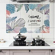 Multi Farbige Blätter Küche Wand Aufkleber