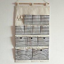 Multi Layer hängende Tasche Wand Tuch an der Wand hängenden Beutel große Tasche C