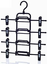 Multi-layer Hose Rack Hosen-clip Rock-kleiderbügel Stapelgestelle Kleiderschrank Knitterarm Overlay Kleiderbügel-A