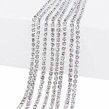 Multi-Size-Nähen auf Kristall Strass Klaue Kette