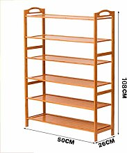 Multi-Tier-Schuh-Rack Massivholz Einfache Lagerung Schrank Möbel Kreative Einfachheit Staubdicht Einheit Schuh Veranstalter Regale ( größe : #5 )