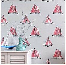 Multi-wallpaper Mediterranean cartoon sailing