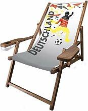 MultiBrands Holz-Liegestuhl, mit Armlehne und