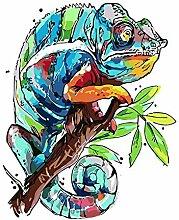 Multicolor Chameleon Handgemalte Wandbilder Von