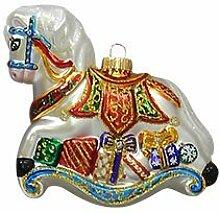 Multicolor Schaukelpferd mit Geschenken 15cm, aus