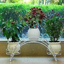 Multifunktionale Garten Eisen Blume Racks Innen Balkon Wohnzimmer Blumentöpfe hängen Orchidee Racks ( Farbe : Weiß )