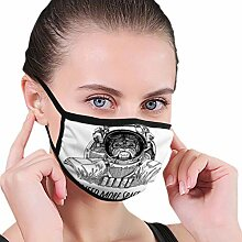 Multifunktionale Gesichtsschutzh;Bulldogge Vintage