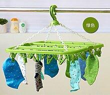 multifunktionale kunststoff - kleidung kleiderbügel, unterwäsche und socken kleiderbügel,32 clip grün