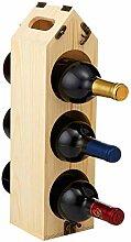 Multifunktionales Weinregal aus Holz für die