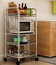 Multifunktions-Küchenregal Regale Küchenregale Mikrowelle Bodenständer Speicherfach Multi-Rack Schüssel Regal Backofenrost CHUFZWJ- Kitchen Storage rack and Shelf ( größe : Long 40cm )