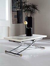 Multifunktionstisch Couchtisch Tisch Olimp weiß höhenverstellbar ausziehbar Hochglanz