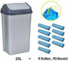 MultiProject Mülleimer mit Schwingdeckel 25 Liter