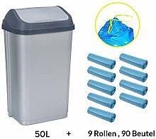 MultiProject Mülleimer mit Schwingdeckel 50 Liter