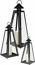 Multistore 2002 3er Set Laterne Windlicht