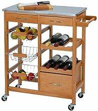 Multistore 2002 Holz Küchenwagen Küchentrolley