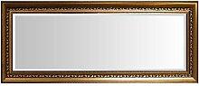 Multistore 2002 Wandspiegel mit Facettenschliff und Verzierungen 102x52cm - Gold/Flurspiegel Barspiegel Frisierspiegel Spiegel