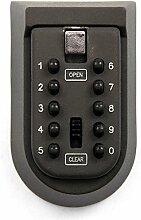 MultiWare Schlüssel-Safe für Home Außeneinsatz mit Zahlenschloss 10-digital Passwor
