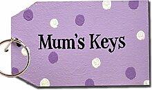 Mum'Schlüssel, Key Perlmutt, 10 x 5,5 cm, Tolle Geschenkidee