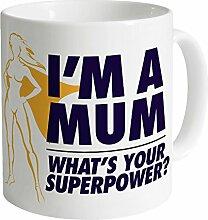 Mum Superpower Becher