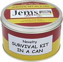 Mum to Be Survival Kit in einer Dose. Humorvolles Geschenk–Neue Eltern/Mutter. Baby Dusche/Schwangerschafts-Geschenk und Karte Alles in einem Dosenfarbe kann, rot / gelb, 10 x 6 cm