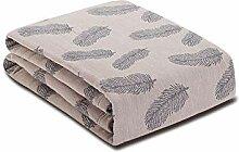MuMa Decke für Handtuch Baumwolle Decke Nap Decke
