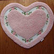 MuMa Pastoralen Stil Herzförmigen Teppich Schöne