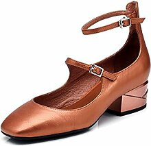 MUMA Pumps Schuhe mit mittlerem Absatz, flacher